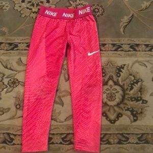 Nike dry-fit athletic leggings pink, hot pink S
